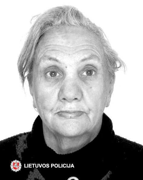 Policija prašo visuomenės pagalbos ‒ ieškoma dingusi be žinios Regina Staniulionienė