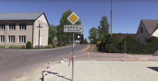 Luksnėnuose gatvės įrengimo darbai (vaizdo įrašas)