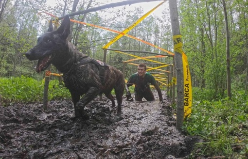 Orientaciniame biatlone su šunimis VSAT kinologai pelnė medalius