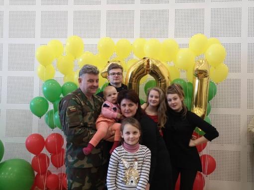 Daugiavaikėje tauragiškių šeimoje – penkios Dievo dovanos