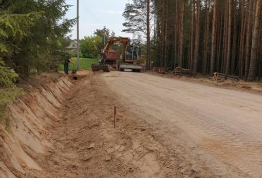 Prie Krokulės šaltinio ves asfaltuotas kelias