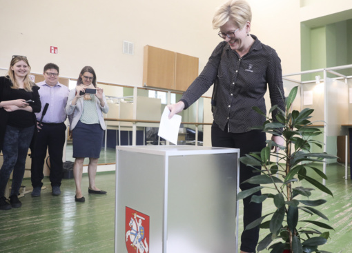 I. Šimonytė balsavo Prezidento rinkimuose: ministrų kaita galima (nuotraukų galerija)