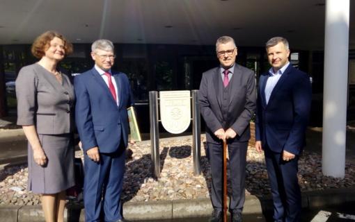 Vartburgo savivaldybė pasveikinta jubiliejaus proga