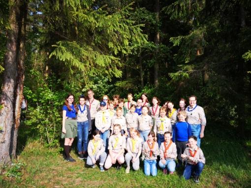 Skautų išvyka  į Metelių regioninį parką