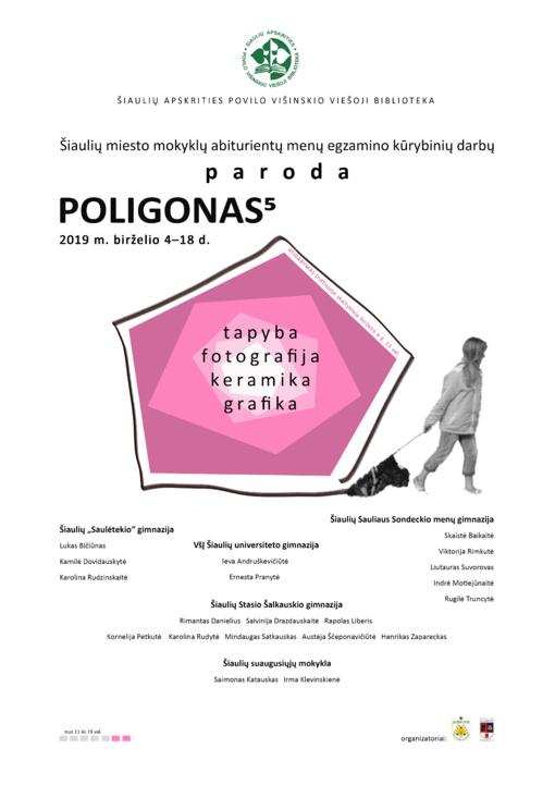 """Abiturientų menų egzamino darbų paroda """"Poligonas 5"""""""