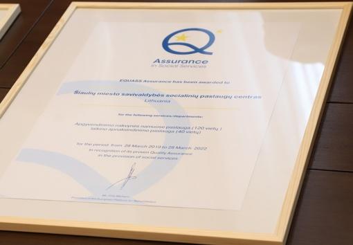 Laikinojo apgyvendinimo paslaugos įvertintos Europos kokybės sertifikatu