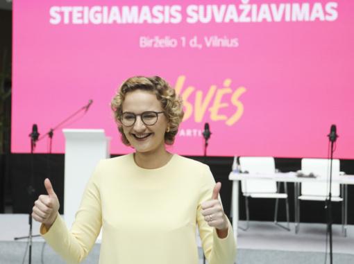 A. Armonaitė – Laisvės partijos pirmininkė