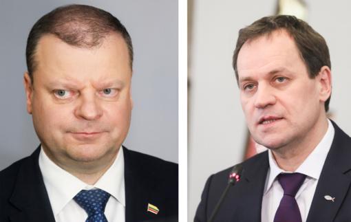 S. Skvernelis susitiko su V. Tomaševskiu: pakvietė jungtis prie koalicijos