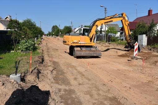 Rekonstruojama Naujosios gatvės atkarpa Šalčininkuose