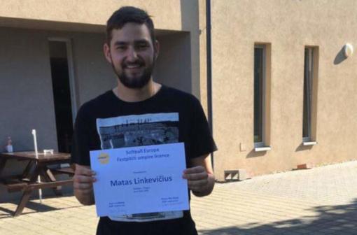 Matas Linkevičius tapo licencijuotu Europos softbolo federacijos teisėju