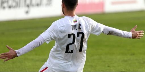 """Futbolininkas J. Tadičius grįžta į """"Sūduvą"""""""