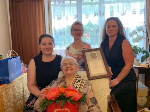 Elenai Andrikonienei – nuoširdūs sveikinimai 90-mečio proga