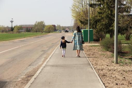 """Įgyvendintas projektas ,,Dviračių transporto infrastruktūros plėtra Taikos gatvėje Pasvalio mieste"""""""