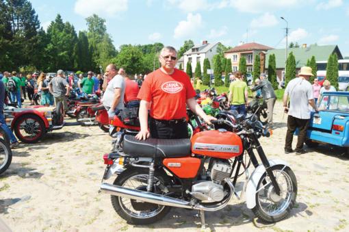 Istorinių motociklų savininkų sąskrydyje – ir Lazdijų krašto atstovai
