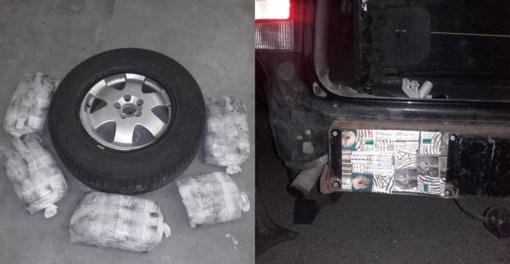 """Iš Baltarusijos įvažiavusio """"Volvo V70"""" slėptuvėse buvo daugiau kaip 3 tūkstančiai pakelių kontrabandos"""