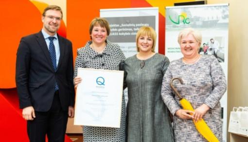 Zarasų socialinės globos namams įteiktas EQUASS Assurance kokybės sertifikatas