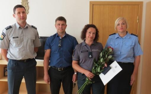 Apdovanota Raseinių policijos pareigūnė