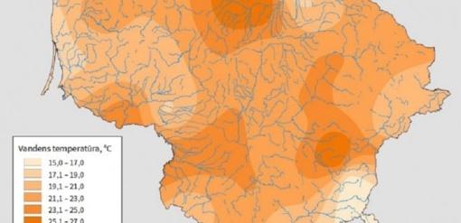 Gelbėtis nuo karščio nepadeda ir maudynės: vandens telkiniai įšilę