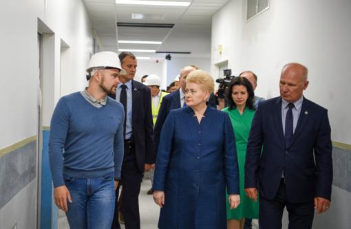 D. Grybauskaitė: nauja infekcinių ligų ligoninė buvo svajonė