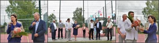 Papilyje atidaryta daugiafunkcė sporto aikštelė
