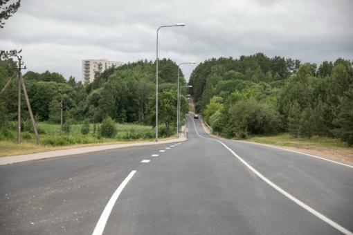 Sostinės Pilaitės rajone atnaujintos 2 svarbios gatvės