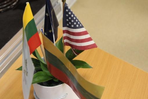 Amerikos karių vizitas Naujoje Akmenėje