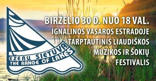 """Festivalis """"Ežerų sietuva"""" vėl Ignalinoje"""