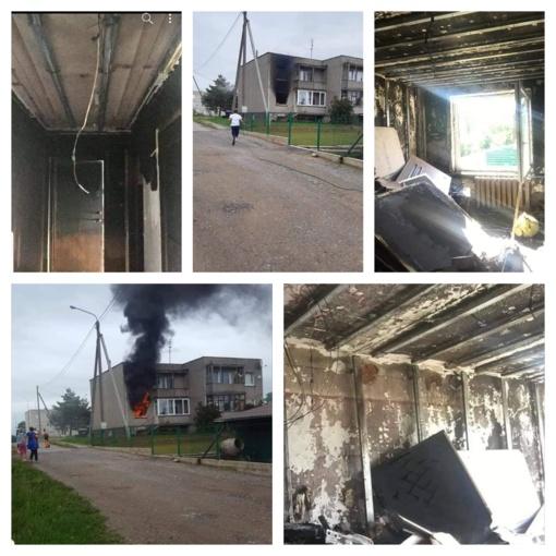 Nuo gaisro nukentėjusiai šeimai prašo paramos