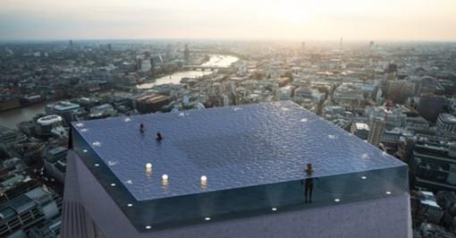 Londone atsiras viešbutis su baseinu ant stogo
