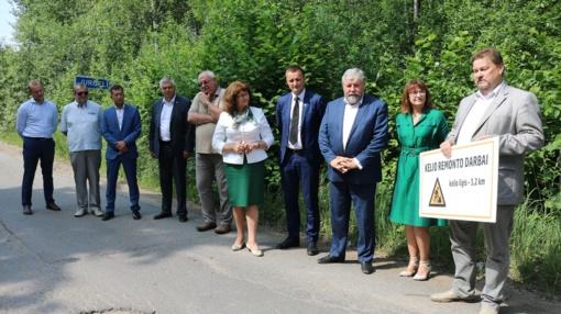 Svarbiam apskrities keliui – daugiau nei pusė milijono eurų (VIDEO)