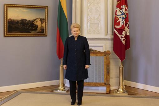 D. Grybauskaitės renta sieks 3690 euro per mėnesį