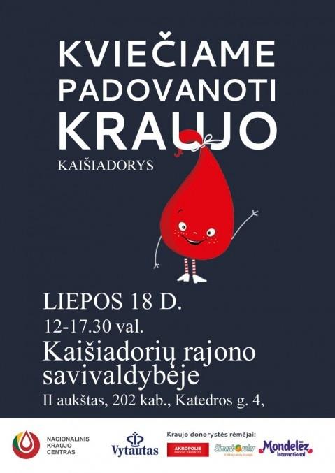 Kviečiame padovanoti kraujo