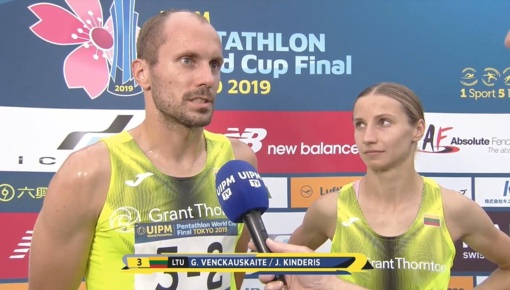 Gintarė Venčkauskaitė ir Justinas Kinderis iškovojo pasaulio taurės bronzą