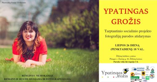 """Tarptautinio socialinio projekto """"Ypatingas grožis"""" fotografijų paroda Plungėje"""