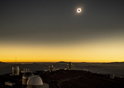 Įspūdingas reginys: Argentina ir Čilė stebėjo visišką Saulės užtemimą