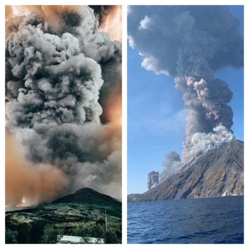 Staiga išsiveržęs ugnikalnis salą Italijoje pavertė pragaru