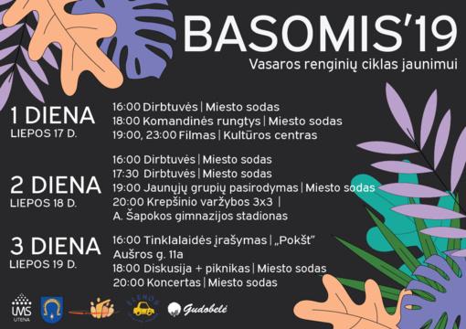 Renginių ciklas jaunimui Utenoje BASOMIS 19