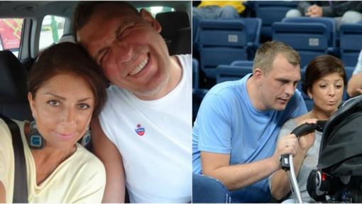 G. Einikis su žmona švenčia vestuvių metines: šunys loja, karavanas eina