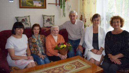 Pasveikinta iš garsios šeimos kilusi 90-metė Marija Končienė