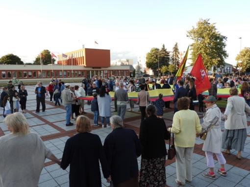 Tautiška giesmė skambėjo Ignalinos Laisvės aikštėje (vaizdo įrašas)