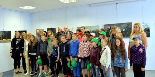 Vaikų ir juos lydinčių pedagogų iš Ukrainos pažintis su Šilalės kraštu