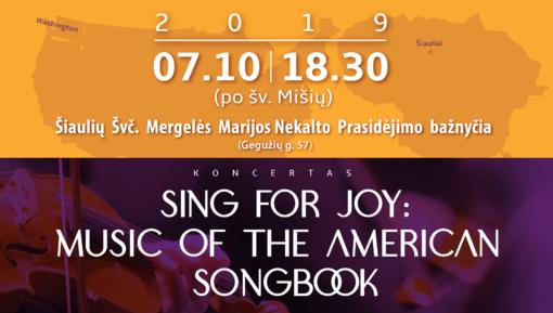 """Chorų """"Symphony Tacoma Voices"""" ir """"Atžalynas"""" koncertas Šiauliuose: """"Dainuok iš džiaugsmo"""""""
