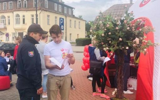 Kraujo donorystės turo po Lietuvą renginyje dalyvavo ir ugniagesiai