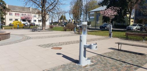 Sostinės centre įrengti penki nauji geriamo vandens fontanėliai