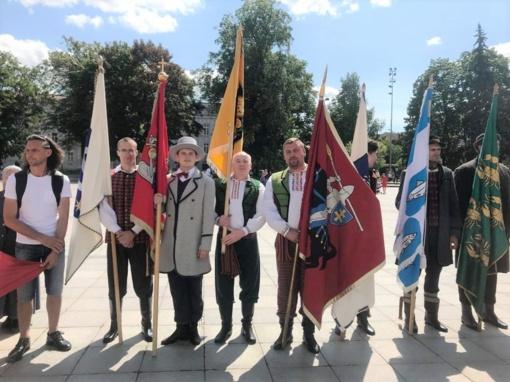 Prezidento inauguracijos ceremonijoje plazdėjo Vilniaus rajono savivaldybės bei seniūnijų vėliavos