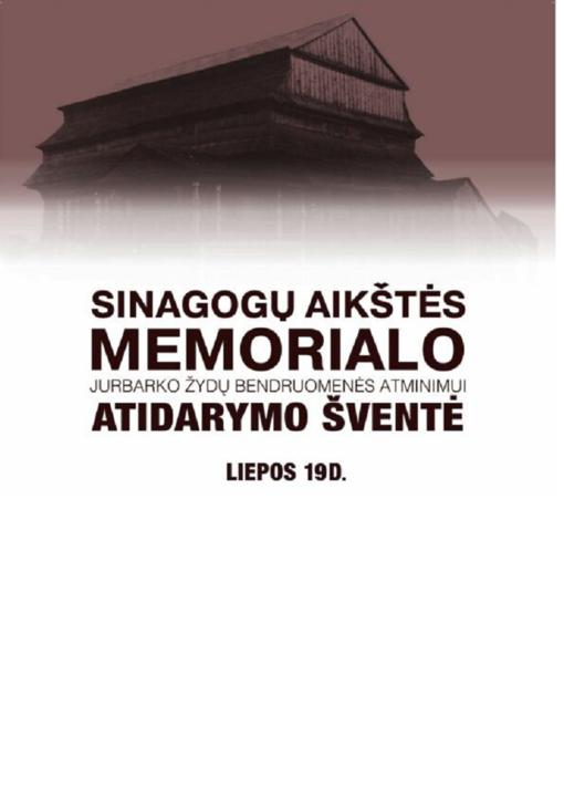 Jurbarke bus atidengtas Sinagogų aikštės memorialas