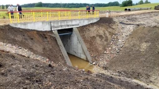 Suremontuotas tiltas per Šavašą