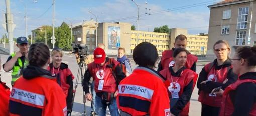 """Trakų savivaldybės atstovai patikrino raumenis """"Gedimino legione"""""""