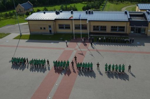 Pasieniečių mokykloje atidaryta jaunųjų pasieniečių, šaulių, policijos rėmėjų ir gelbėtojų stovykla