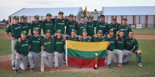 Lietuvos beisbolininkai dėl vietos Europos elite kausis Utenoje
